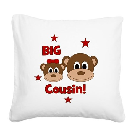 Monkey_BigCousin_girl Square Canvas Pillow