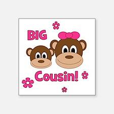 "Monkey_Girl_BigCousin Square Sticker 3"" x 3"""