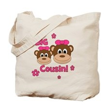 Monkey_Girl_BigCousin_girl Tote Bag
