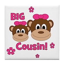 Monkey_Girl_BigCousin_girl Tile Coaster