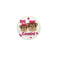Monkey_Girl_BigCousin_girl Mini Button