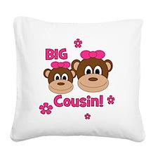 Monkey_Girl_BigCousin_girl Square Canvas Pillow