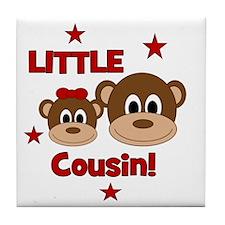 Monkey_LittleCousin_girl Tile Coaster