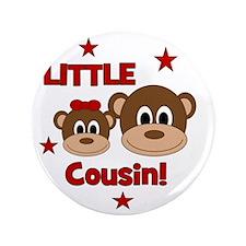 """Monkey_LittleCousin_girl 3.5"""" Button"""