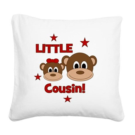 Monkey_LittleCousin_girl Square Canvas Pillow