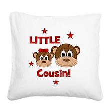 Monkey_LittleCousin_girl Square Canvas Pillow