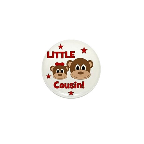 Monkey_LittleCousin_girl Mini Button