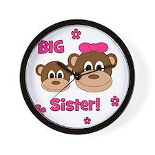 Monkey_Girl_BigSister Wall Clock