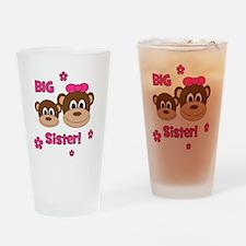 Monkey_Girl_BigSister Drinking Glass