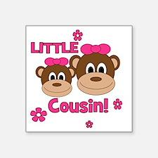 "Monkey_Girl_LittleCousin_gi Square Sticker 3"" x 3"""