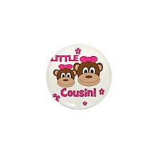 Monkey_Girl_LittleCousin_girl Mini Button