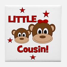 2-Monkey_LittleCousin_girl Tile Coaster
