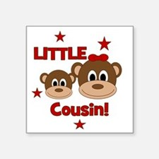 "2-Monkey_LittleCousin_girl Square Sticker 3"" x 3"""