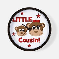 2-Monkey_LittleCousin_girl Wall Clock