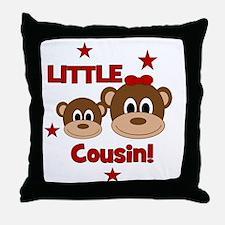 2-Monkey_LittleCousin_girl Throw Pillow