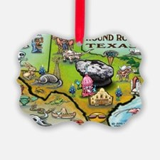 Round Rock TEXAS Map Card Ornament