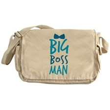 BIG BOSS MAN with a bow tie Messenger Bag