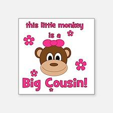 "thislittlemonkey_bigcousin_ Square Sticker 3"" x 3"""