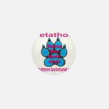 petathon_skyblue_paw_transparent Mini Button