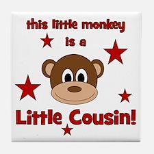 thislittlemonkey_littlecousin Tile Coaster