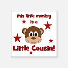"""thislittlemonkey_littlecous Square Sticker 3"""" x 3"""""""