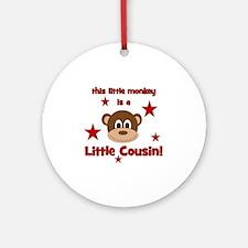 thislittlemonkey_littlecousin Round Ornament