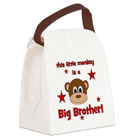 thislittlemonkey_bigbrother Canvas Lunch Bag
