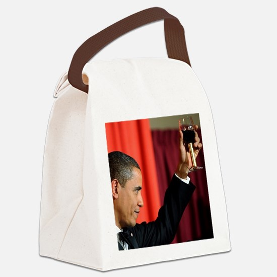 ART COASTER new obama toast Canvas Lunch Bag