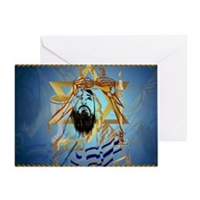 Pass Over Collage Blue-Yardsign Greeting Card