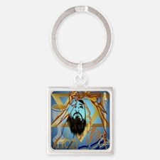 Pass Over Collage Blue Poster Square Keychain
