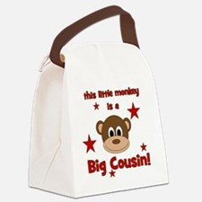 thislittlemonkey_bigcousin Canvas Lunch Bag