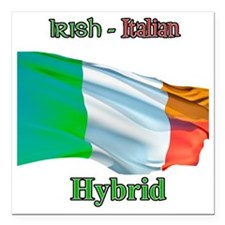 "irish_italian Square Car Magnet 3"" x 3"""