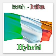 "irish_italian Square Car Magnet 3"" x 3"""