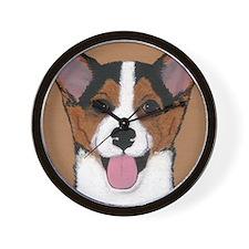 Tri Welsh Corgi Puppy Wall Clock