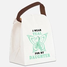 I Wear Teal for my Daughter Canvas Lunch Bag