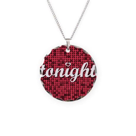 Tonight Pillow Necklace Circle Charm