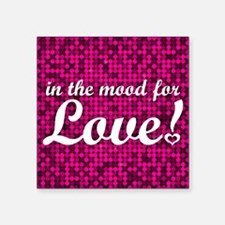 "Mood for Love Glam Pillow Square Sticker 3"" x 3"""