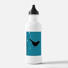 200_birdswirls_pillow Water Bottle