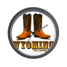 Wyoming: The Cowboy State Wall Clock