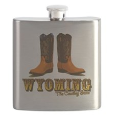 Wyoming: The Cowboy State Flask