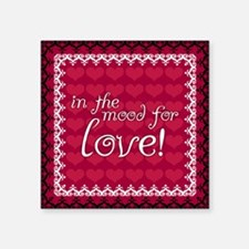 "In The Mood For Love Square Sticker 3"" x 3"""