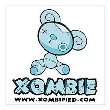 "blue_bear Square Car Magnet 3"" x 3"""