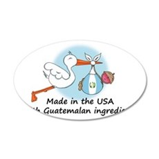 stork baby guat 2 35x21 Oval Wall Decal