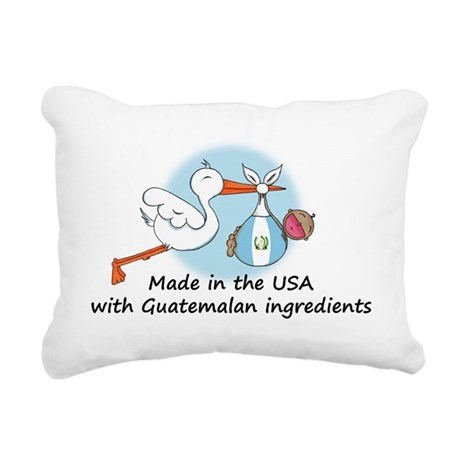 stork baby guat 2 Rectangular Canvas Pillow