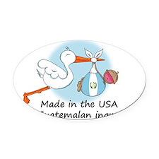 stork baby guat 2 Oval Car Magnet