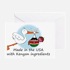 stork baby kenya 2 Greeting Card