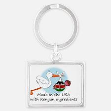 stork baby kenya 2 Landscape Keychain