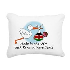 stork baby kenya 2 Rectangular Canvas Pillow
