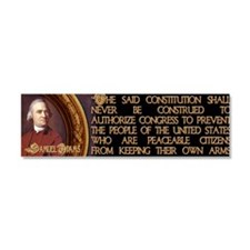 4-Samuel Adams Citizens and Arms Car Magnet 10 x 3