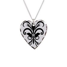 FleurLily1TR Necklace Heart Charm